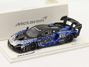 McLaren Senna GTR 2019 #12 blue / chrome / black 1:43 TrueScale