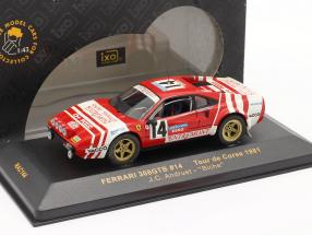 Ferrari 308GTB #14 Tour de Corse 1981 Andruet 1:43 Ixo