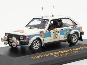 Talbot Lotus Sunbeam #16 rally Monte Carlo 1981 Frequelin, Todt 1:43 Ixo