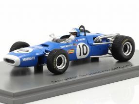 Jean-Pierre Beltoise Matra MS7 #10 3rd GP de Pau formula 2 1968 1:43 Spark