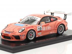 Porsche 911 GT3 Cup Pink Pig #19 Porsche Carrera Cup Brazil 2018 1:43 Spark