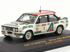 Fiat 131 Abarth #1 winner 1000 Lakes rally 1979 Alen, Kivimaki 1:43 Ixo