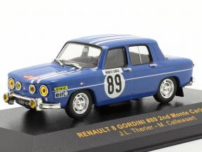 Renault 8 Gordini #89 rally Monte Carlo 1969 Therier, Callewaert 1:43 Ixo