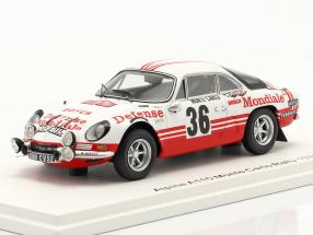 Alpine-Renault A110 1800 #36 Rallye Monte Carlo 1973 Wollek, Thimonier 1:43 Spark