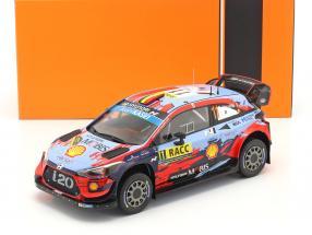 Hyundai i20 Coupe WRC #11 Winner Rallye Catalunya 2019 Neuville, Gilsoul 1:18 Ixo