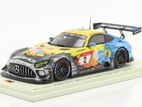 Mercedes-Benz AMG GT3 #2 9th 24h Nürburgring 2020 Mercedes-AMG Team HRT 1:43 Spark