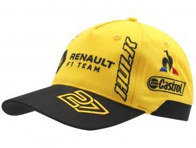 Cap Renault F1 Team 2019 #3 Ricciardo #27 Hülkenberg gelb / schwarz (Kinder)