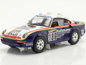 Porsche 959 #186 Sieger Rallye Paris - Dakar 1986 mit Vitrine 1:18 Spark