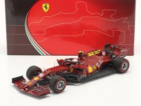 C. Leclerc Ferrari SF1000 #16 1000th GP Ferrari Tuscan GP F1 2020 1:18 BBR