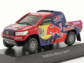 Toyota Hilux #301 Rallye Dakar 2017 Al-Attiyah, Baumel 1:43 Premium Collectibles