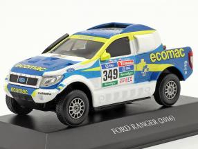 Ford Ranger #349 Rallye Dakar 2016 Mas, Latrach 1:43 Premium Collectibles