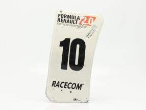 Original Heckflügel Endplatte #10 Formel Renault 2.0 / ca. 24 x 52 cm