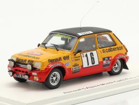 Renault 5 Alpine #16 8th Rallye Monte Carlo 1979 Frequelin, Delaval 1:43 Spark