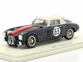 Lancia D20 #63 24h LeMans 1953 Gonzales, Biondetti 1:43 Spark