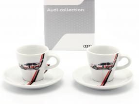 Espresso-Tassen Heritage (2er Set) Audi quattro S1 #1 Sieger Pikes Peak 1987