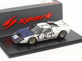 Ford GT40 MK2 #2 24h LeMans 1965 Amon, Hill 1:43 Spark