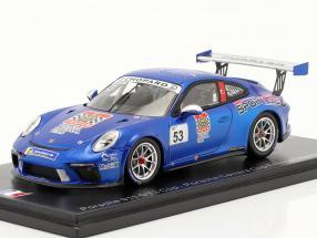 Porsche 911 GT3 Cup #53 champion Porsche Carrera Cup France 2018 1:43 Spark