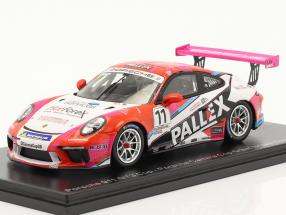 Porsche 911 GT3 Cup #11 champion Porsche Carrera Cup UK 2018 1:43 Spark