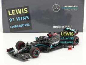 Hamilton Mercedes-AMG F1 W11 #44 91st Win Eifel GP Formel 1 2020 1:18 Minichamps