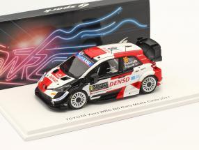 Toyota Yaris WRC #18 6th Rallye Monte Carlo 2021 Katsuta, Barritt 1:43 Spark