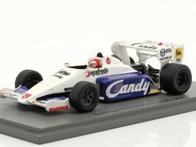 Johnny Cecotto Toleman TG184 #20 Monaco GP formula 1 1984 1:43 Spark