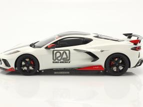 Chevrolet Corvette C8 Pace Car IMSA Road America 2020 weiß  GT-Spirit