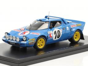 Lancia Stratos HF #10 7th Rallye Monte Carlo 1978 Mouton, Conconi 1:43 Spark