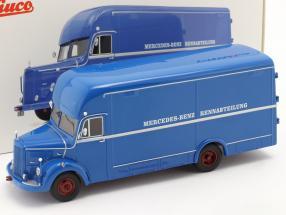 Mercedes-Benz O35000 Rennabteilung blau 1:43 Schuco