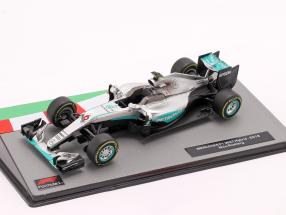 Nico Rosberg Mercedes F1 W07 Hybrid #6 formula 1 World Champion 2016 1:43 Altaya