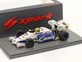 Ayrton Senna Toleman TG184 #19 2nd Monaco GP Formel 1 1984 1:43 Spark