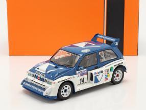 MG Metro 6R4 #14 9th Lombard RAC Rallye 1986 Llewellin, Short 1:18 Ixo