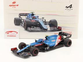Esteban Ocon Alpine A521 #31 Bahrain GP Formel 1 2021 1:18 Spark