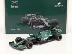 Lance Stroll Aston Martin AMR21 #18 Bahrain GP Formel 1 2021 1:18 Spark