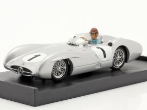J. M. Fangio Mercedes-Benz W196 #1 4th British GP F1 World Champion 1954 1:43 Brumm