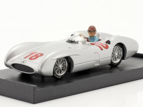 J. M. Fangio Mercedes-Benz W196 #18 French GP F1 World Champion 1954 1:43 Brumm