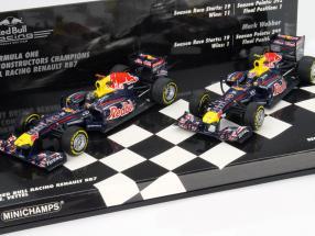 Red Bull RB7 Vettel, Webber Conctructors Champion 2011 2-Car Set 1:43 Minichamps