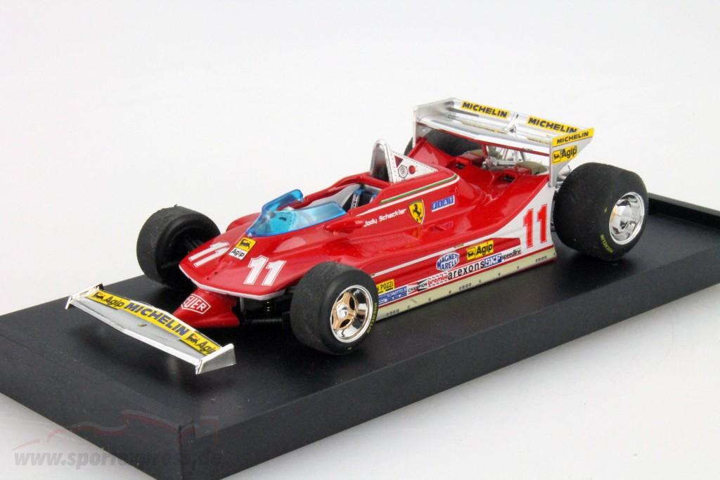 Ready-made No.12 with figure of driver Ferrari 312 T4 GP Monaco GP Monaco Brumm 1:43 1979 Model Car