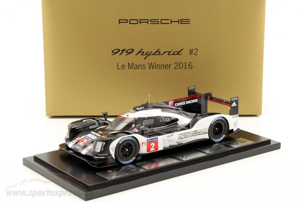 Porsche 919 Hybrid #2 Winner 24h LeMans 2016 Lieb, Dumas, Jani with Showcase