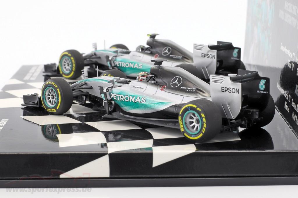 N. Rosberg #6 & L. Hamilton #44 Mercedes F1 W06 Hybrid 2-Car Set formula 1 2015