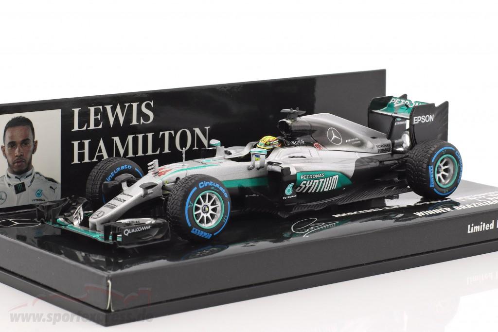 L Hamilton Mercedes F1 W07 Winner Brasilien GP Formel 1 2016 1:43 Minichamps