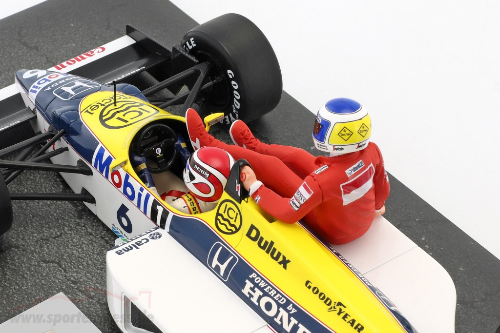 K. Rosberg riding on N. Piquet Williams FW11 #6 Winner Germany GP F1 1986