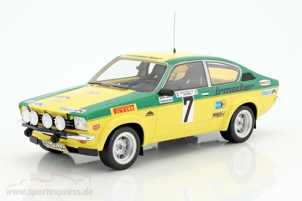 rally Hessen smolej//geistdörfer 1976 1:18 bos Opel Kadett C GT//E #7