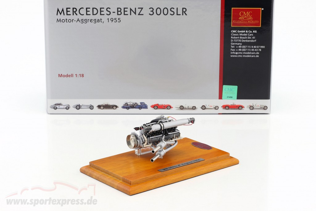 Mercedes Benz 300 SLR motor unit 1955 + Showcase
