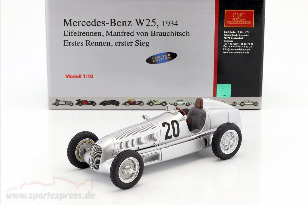 Mercedes Benz W25 #20 v. Brauchitsch formula 1 1934 Winner Eifelrace