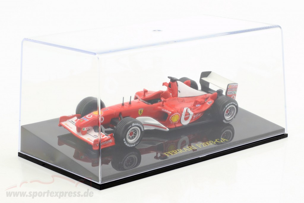 M. Schumacher Ferrari F2003-GA #1 World Champion formula 1 2003 with showcase