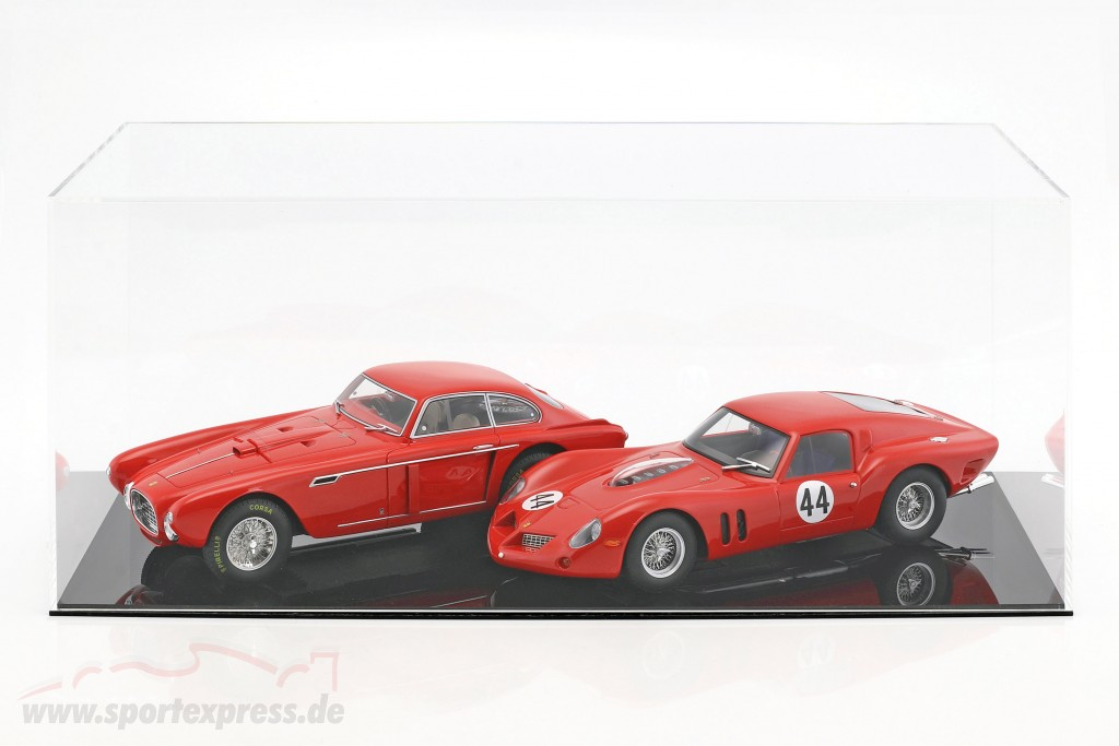High quality showcase for 1 Modelcar in scale  or 2 modelcars in scale 1:18 black