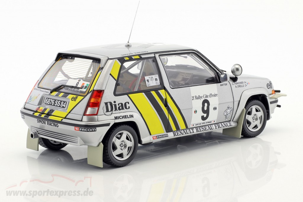 Renault Super 5 GT Turbo #9 Winner rally Ivory Coast 1989 Oreille, Thimonier