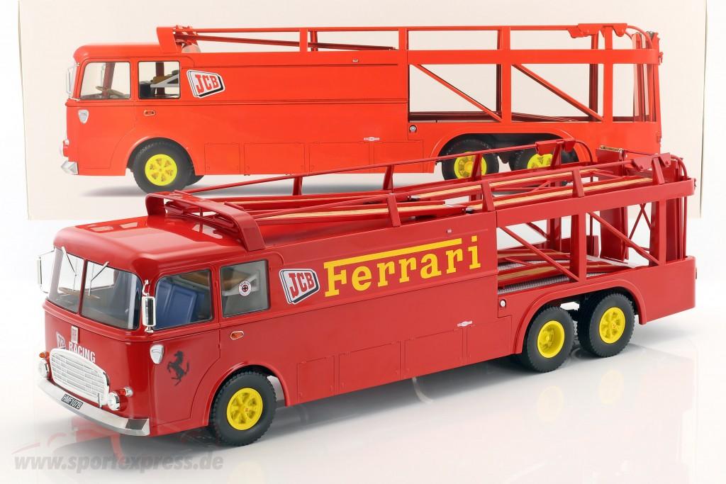 Fiat Bartoletti 306/2 Racing transporter Ferrari JCB Racing red