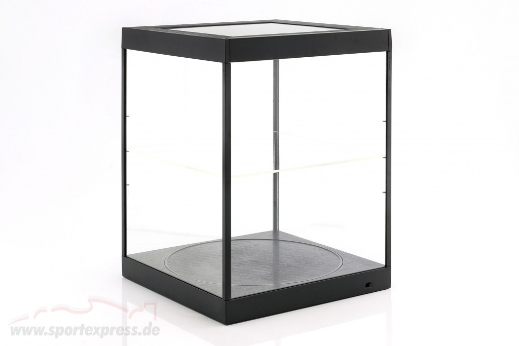 single display case and Rotary table for modelcars in scale  black