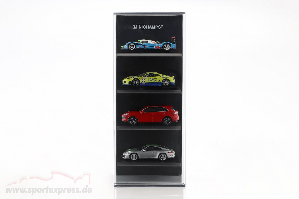 acrylic Showcase für 4 model cars in scale  black